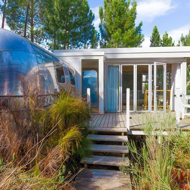 Luxury trailer accommodation at Old Mac Daddy