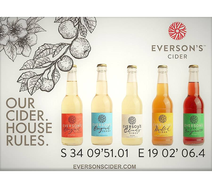 Range of Everson's ciders