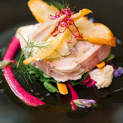 Pork terrine made with acorn-fed pork