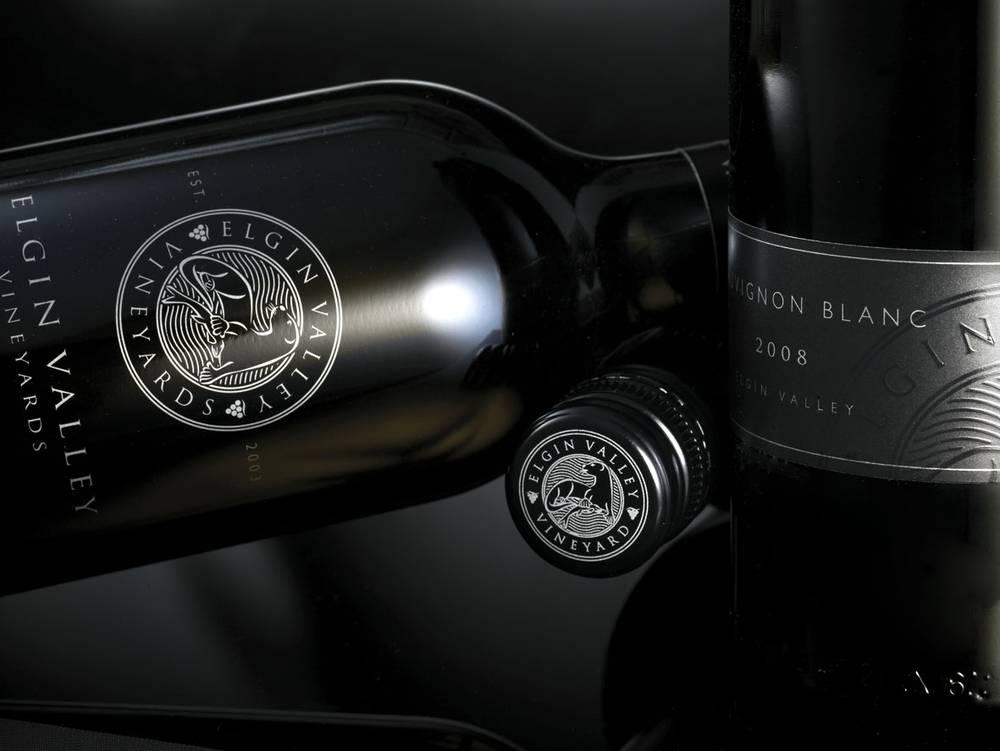 Stylised Corder Family Wines bottle shot