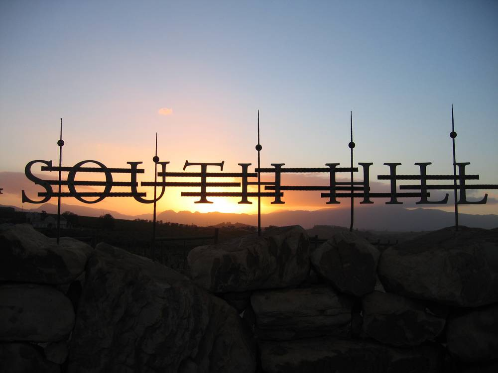 Sunset South Hill sign