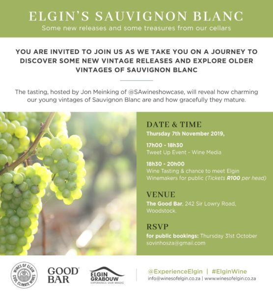 Tweet Up Event Elgin Sauvignon Blanc
