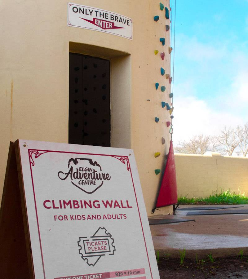 Climbing tower entrance