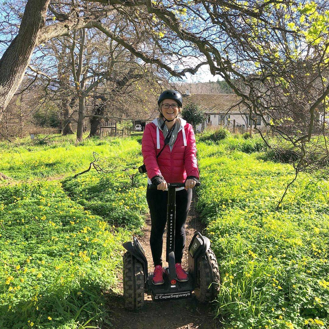 Kathryn Rossiter on Segway Elgin trail