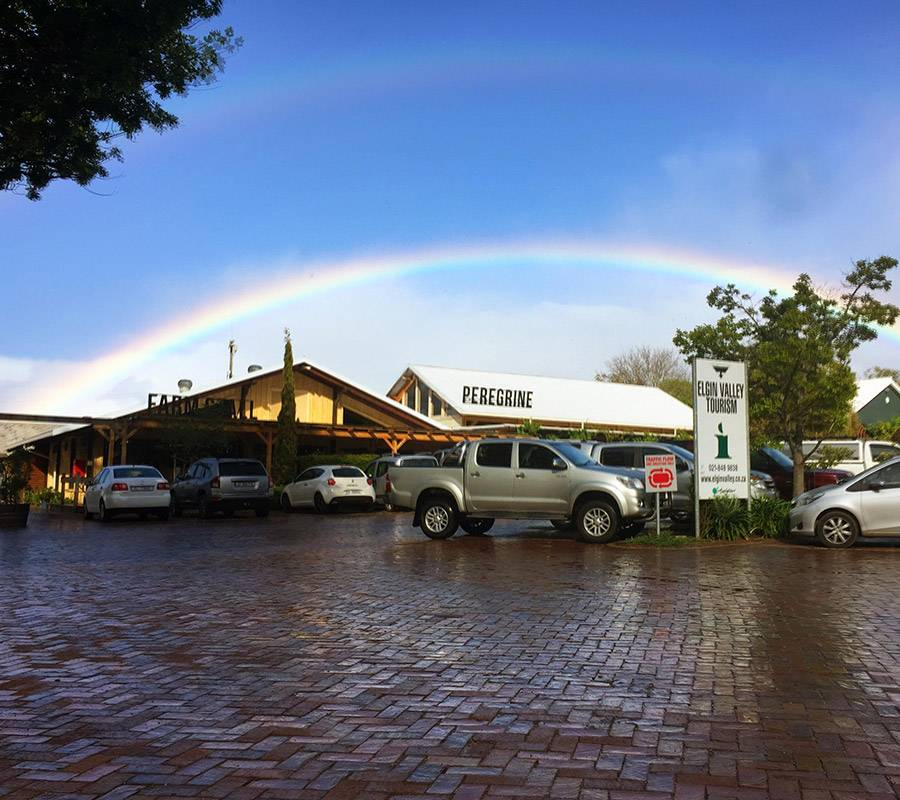 Double rainbow over Peregrine Farm Stall