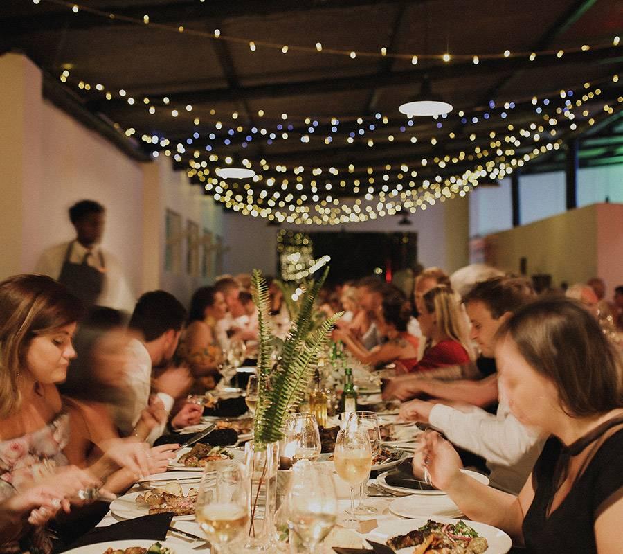 Wedding dinner in the Elgin Valley
