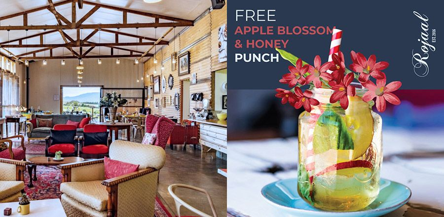 Free Apple Blossom and Honey Punch at Rojaal Est. 2016