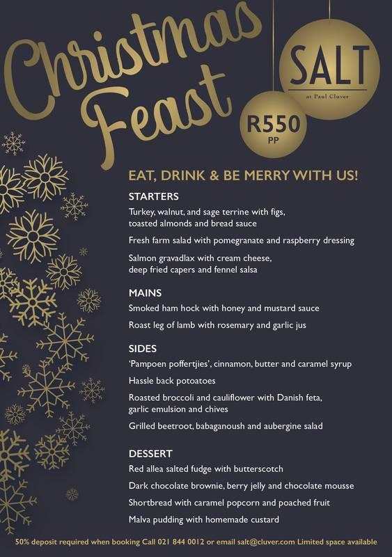 Salt Christmas 2018 menu