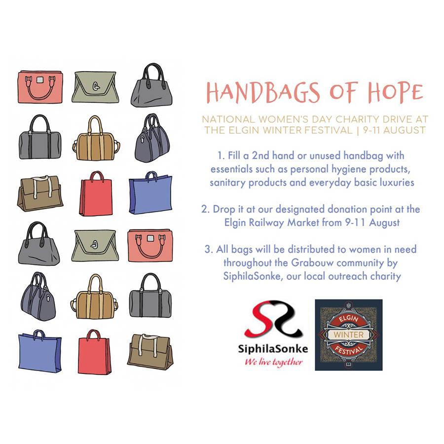 SiphilaSonke #HandbagsOfHope flyer