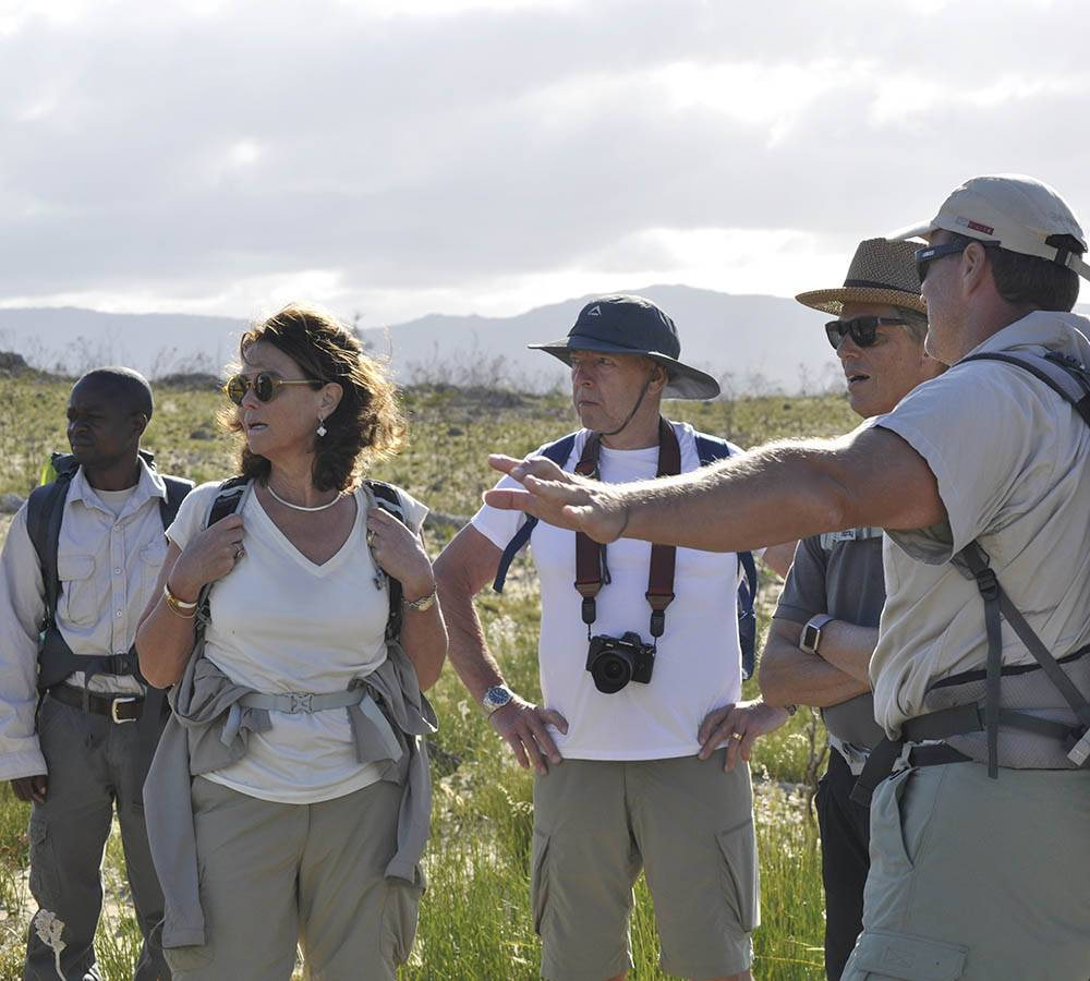FGASA trained guides share plenty of knowledge about the local fauna, flora, geology and conservation efforts