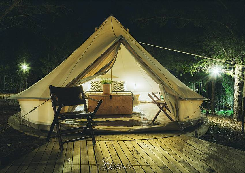 Cherry Glamping tented accommodation