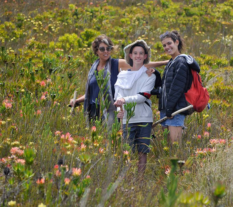 Happy family on the Blue Mountain Trail