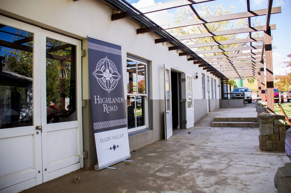 Tasting facilities at Highlands Road Estate