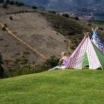 Teepee tents set up for kids at Oneiric