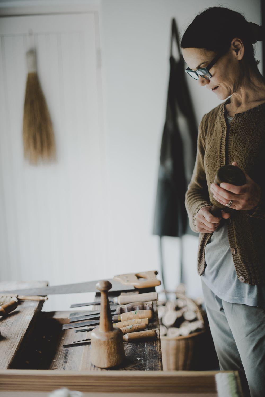 Rozy Gunn in her workshop