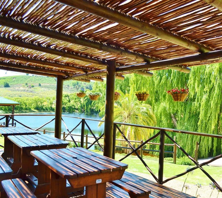 Covered veranda at Inn on Highlands